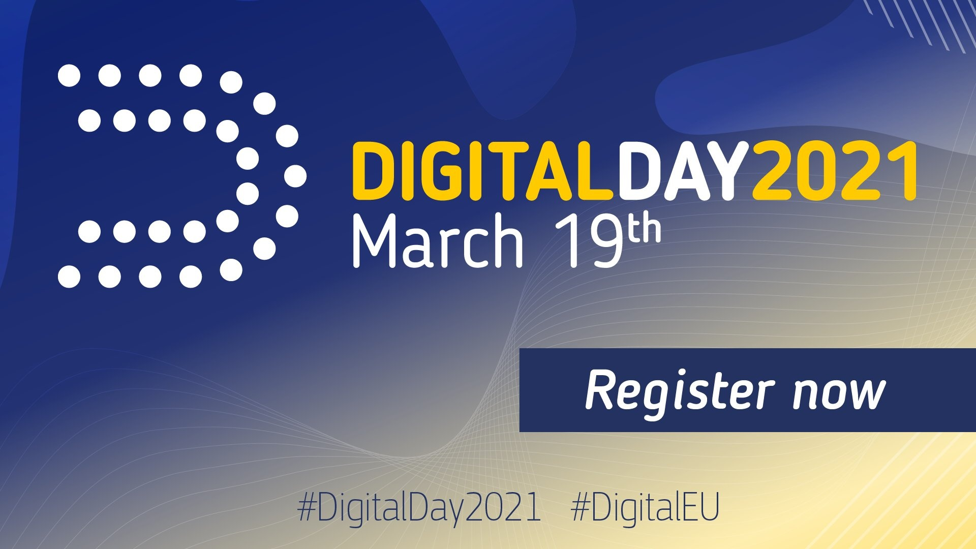 image for the title of europes digital day 2021