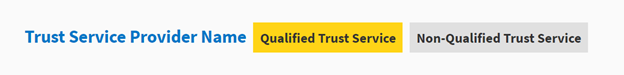 image explaining how trust service provider is displayed