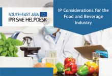IP Considerations for the Food and Beverage Industry
