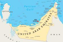 United Arab Emirates - map