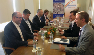 Energy Tour to Croatia - Bilateral meeting with Croatian Prime Minister Zoran Milanović (second left).