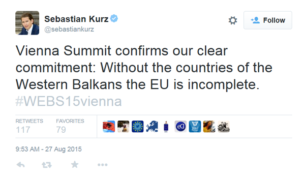 Western Balkan Summit in Vienna