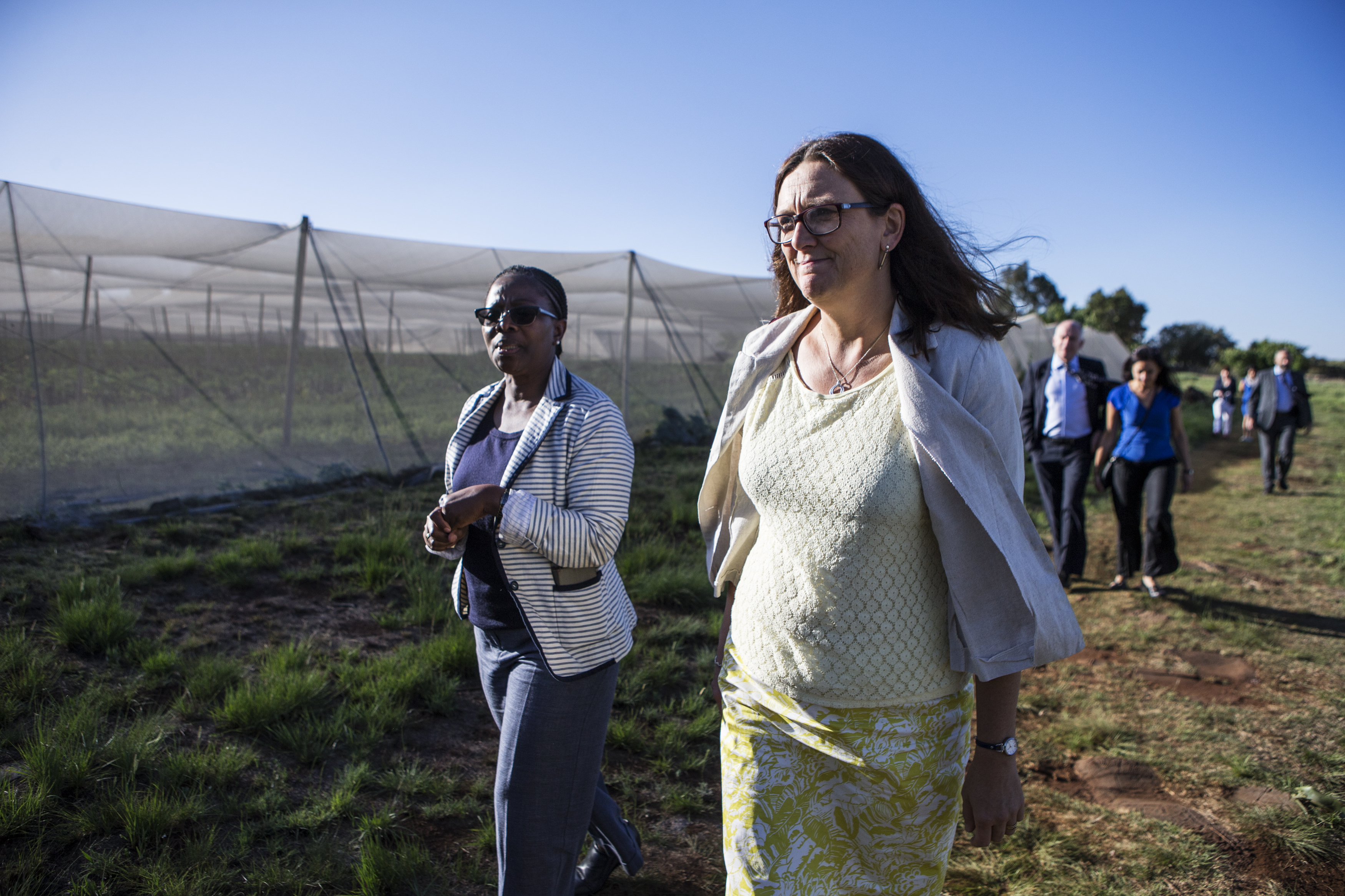 With Magapa Phawene, CEO of Wensleydale Organic Farm, in South Africa this week. Photo: European Union