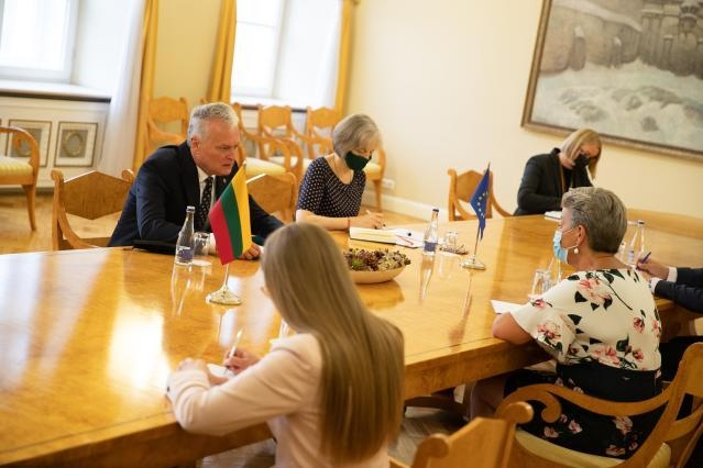 Commissioner Johansson meeting with the President of Lithuania