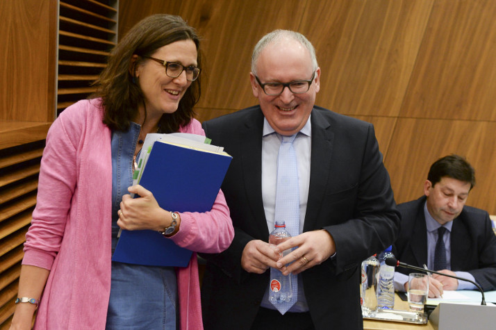 First Vice-President Timmermans and Commissioner Malmström © EU