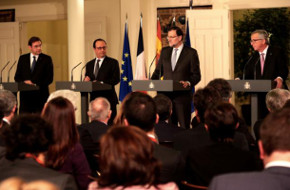 Press conference of President Juncker and the Heads of State and Government of France, Spain and Portugal