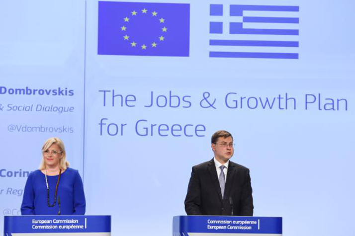 Vice-President Dombrovskis and Commissioner Creţu during the press conference