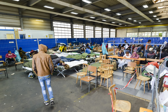 Archive photo of a migrant registration centre in Passau