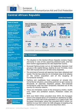 Factsheet Central African Republic