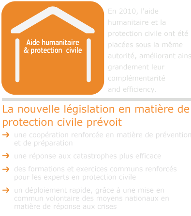 New civil protection legislation provides for: