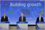 Algirdas Šemeta, Olli Rehn and László Andor © European Union
