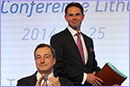 Jyrki Katainen and Mario Draghi during the Euro conference in Lithuania © European Union