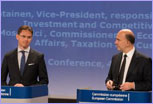 Joint press conference by Jyrki Katainen, Vice-President of the EC, and Pierre Moscovici, Member of the EC, on the autumn economic forecasts for 2014-2016 © European Union