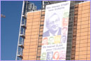 Banner on the Berlaymont building with the new European Commission members © European Union