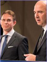 Jyrki Katainen, on the left, and Pierre Moscovici © European Union
