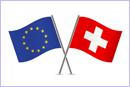 European Union and Switzerland flags © thinkstockphotos