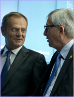 Mr Donald TUSK, President of the European Council; Mr Jean-Claude JUNCKER, President of the European Commission © European Union