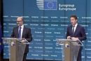 Pierre Moscovici and Jeroen Dijsselbloem at the press conference that followed the Eurogroup meeting on 9 November in Brussels © European Union, 2015