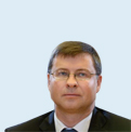 Vice-President Valdis Dombrovskis, responsible for the Euro and Social Dialogue