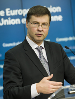 Vice-President Valdis Dombrovskis, responsible for the Euro and Social Dialogue. © European Union, 2015