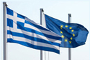 Greece and European Union flags © iStockphoto
