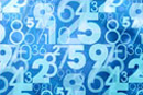 Blue abstract numbers © thinkstockphotos