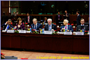 Mr Viktor ORBAN, Hungarian Prime MinisterMs Catherine ASHTON, High Representative for Foreign Affairs and Security PolicyMr Yves LETERME, Belgian Prime MinisterMr Herman VAN ROMPUY, President of the European Council Mr Jerzy BUZEK, President of the European Parliament - © Council of the EU – photo Mario Salerno