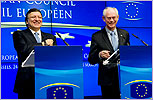 President Herman VAN ROMPUY - President of the Commission Jose Manuel BARROSO © The Council of the European Union