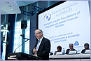 "Olli Rehn at the ""Strengthening the Foundations of Integrated and Stable Financial Markets"" conference © European Union, 2011"
