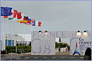 Flags of the 8 countries leaders of the G8 next to the logo of the G8 Summit in Deauville © European Union, 2011