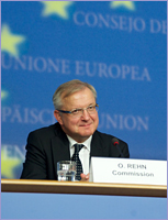 Mr Olli RHEN, Member of the European Commission © The Council of the European Union