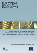 Progress towards meeting the economic criteria for accession : the assessments of the 2011 Progress Reports and the Opinion (Serbia) © European Union, 2011