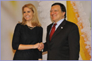 Helle Thorning-Schmidt, on the left, and José Manuel Barroso, © European Union, 2012