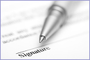 Contract ready for signature © istockphoto