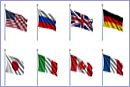 Group of Eight - Sovereign-state flags of the G8 countries © Carsten Reisinger –Fotolia.com