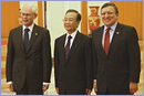 From left to right: Herman Van Rompuy, Wen Jiabao, Chinese Prime Minister and José Manuel Barroso © European Union, 2012