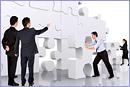 Teamwork - Making a puzzle © Andres Rodriguez –Fotolia.com
