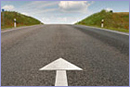 Road with arrow © European Union, 2012