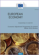 Economic Adjustment Programme for Ireland — Winter 2012 Review. European Economy. Occasional Paper 131