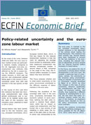 Policy-related uncertainty and the euro-zone labour market. Economic Briefs 24. June 2013