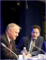 Olli Rehn, Vice-President for Economic and Monetary Affairs and the Euro and Jeroen Dijselbloem © European Union