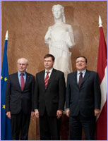 Visit of José Manuel Barroso, President of the EC, to Latvia © European Union