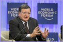 President Barroso at the World Economic Forum © European Union