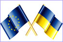 European Union and Ukraine vector flags © thinkstockphotos.co.uk