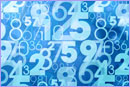 Blue abstract numbers © thinkstockphotos.co.uk