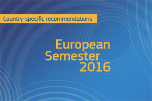 Spring 2016 European Semester package: Commission issues country-specific recommendations