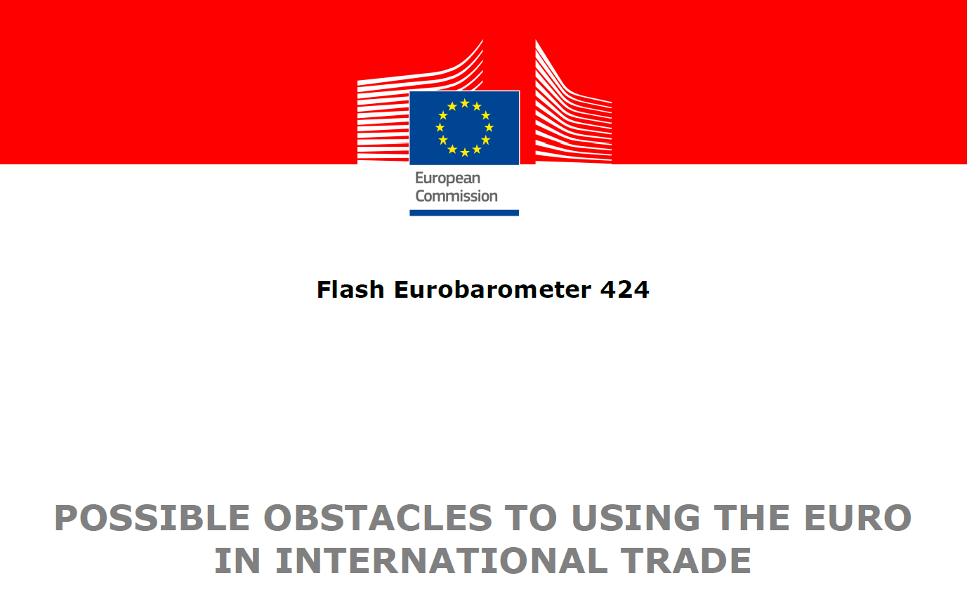 Eurobarometer: The role of the euro in international trade