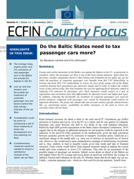 11 - Do the Baltic States need to tax passenger cars more