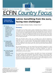 12 - Latvia: benefiting from the euro, facing new challenges