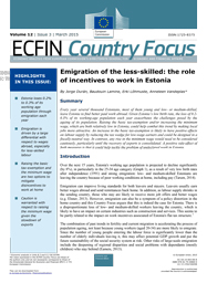 Emigration of the less-skilled: the role of incentives to work in Estonia